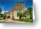 Landscape Framed Print Greeting Cards - Indiana Memorial Union I Greeting Card by Steven Ainsworth