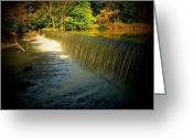 Indiana Autumn Greeting Cards - Indiana Waterfall Greeting Card by Joyce L Kimble