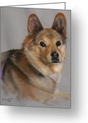 Photorealism Pastels Greeting Cards - Indica Greeting Card by Nanybel Salazar