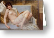 Laying Greeting Cards - Indolence Greeting Card by Guillaume Seignac