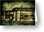 Paris Greeting Cards - Indulgence Greeting Card by Andrew Paranavitana