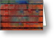 Horizontal Lines Digital Art Greeting Cards - Industrial Abstract 5 Greeting Card by Andy  Mercer