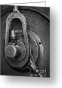 Nut Greeting Cards - Industrial detail Greeting Card by Carlos Caetano