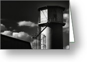 Silo Greeting Cards - Industrial Silo, Mizuho Greeting Card by Photography by Stephen Cairns