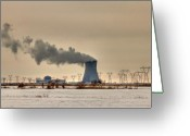 Scenery Greeting Cards - Industrialscape Greeting Card by Evelina Kremsdorf