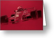 Helmet Greeting Cards - Indy Racing Greeting Card by Jeff Mueller