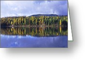 Janie Greeting Cards - Inez Lake Montana Greeting Card by Janie Johnson