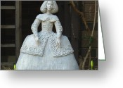Original Ceramics Greeting Cards - Infanta Greeting Card by Anna Wiechec