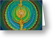 Pagan Art Greeting Cards - Infinite Isis Greeting Card by Sue Halstenberg