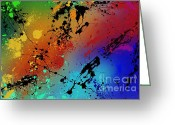 Colorful Greeting Cards - Infinite M Greeting Card by Ryan Burton