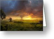 Storm Greeting Cards - Infinite Oz Greeting Card by Philip Straub