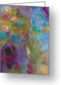 Abstract Landscapes Greeting Cards - Infinite Tranquility Greeting Card by Johnathan Harris