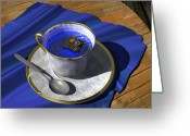 Teacup Digital Art Greeting Cards - Infinitea Greeting Card by Cynthia Decker