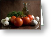 Food Greeting Cards - Ingredients Greeting Card by Jeannie Burleson