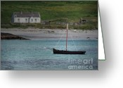 Co Galway Greeting Cards - Inishbofin Boat Greeting Card by Vicki Lea Eggen