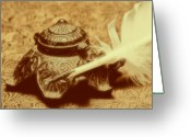 Ink Well Greeting Cards - Inkwell I Greeting Card by Tom Mc Nemar