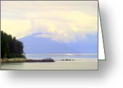 Skagway Greeting Cards - Inland Passage Greeting Card by Mindy Newman