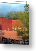 Santa Fe Digital Art Greeting Cards - INN at the ALAMEDA Santa Fe Greeting Card by Charlie Spear