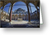 Sultan Greeting Cards - Inner Courtyard Greeting Card by Joan Carroll