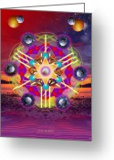 Sacred Digital Art Greeting Cards - Inner Divinity Greeting Card by Arie Van der Wijst