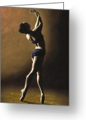 Dancer Art Greeting Cards - Inner Sanctuary Greeting Card by Richard Young