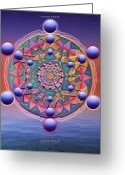 Sacred Digital Art Greeting Cards - Inner Space Greeting Card by Arie Van der Wijst
