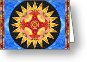 Sacred Photo Greeting Cards - Inner Sun Greeting Card by Bell And Todd