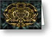 Fine Art Greeting Cards - Inner World Greeting Card by Dave Gordon