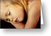 Blonde Girl Greeting Cards - Innocence Greeting Card by Kristin Elmquist