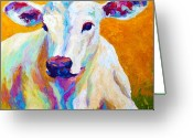Farm Painting Greeting Cards - Innocence Greeting Card by Marion Rose