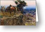 Great Plains Greeting Cards - Innocent Allies Greeting Card by Pg Reproductions