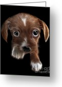Pensive Greeting Cards - Innocent Loving Eyes	 Greeting Card by Peter Piatt