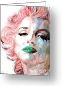 Icon Greeting Cards - Insecure  Flawed  but Beautiful Greeting Card by Paul Lovering