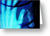 Abstract Framed Prints Framed Prints Greeting Cards - Inside My Hands U Love Greeting Card by Jerry Cordeiro