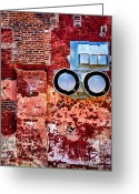 Brick Greeting Cards - Inside Out Greeting Card by Bob Orsillo