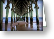 Landmarks Greeting Cards - Inside Serenity Greeting Card by Karen Wiles