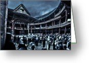 Shakespeare Greeting Cards - Inside Shakespeares Globe Greeting Card by Rich Beer