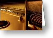 Steinway  Greeting Cards - Inside the Grand Greeting Card by Greggory Poitras