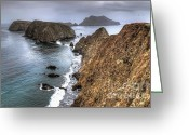 Inspiration Point Greeting Cards - Inspiration Point - Anacapa Island Greeting Card by Eddie Yerkish