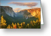 Veil Greeting Cards - Inspiration Point Yosemite Greeting Card by Brian Ernst