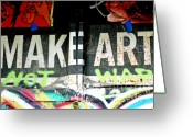 Graffiti Art For The Home Greeting Cards - Inspirational Graffiti Art for the HOme Greeting Card by Anahi DeCanio