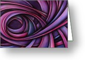Pink Ribbon Greeting Cards - Inspire Greeting Card by Michael Lang
