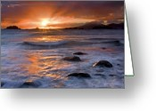 Alaska Greeting Cards - Inspired Light Greeting Card by Mike  Dawson
