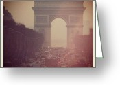 Iphonesia Greeting Cards - Instagram Photo - lArc de Triomphe - Paris Greeting Card by Marianna Mills