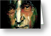 Icon  Painting Greeting Cards - Instant Karma Greeting Card by Paul Lovering