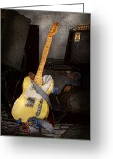 Amplifier Greeting Cards - Instrument - Guitar - Playing in a band Greeting Card by Mike Savad