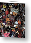 Seattle Greeting Cards Greeting Cards - Instruments Greeting Card by Chalet Roome-Rigdon