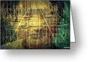 Unlock Digital Art Greeting Cards - Insurmountable Barriers And Illusory Of Our Minds Greeting Card by Paulo Zerbato