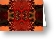 Computer Generated Abstract Greeting Cards - Intense confrontation Greeting Card by Claude McCoy