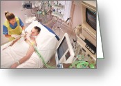 Attending Greeting Cards - Intensive Care Patient Greeting Card by Bodenham, Lth Nhs Trust